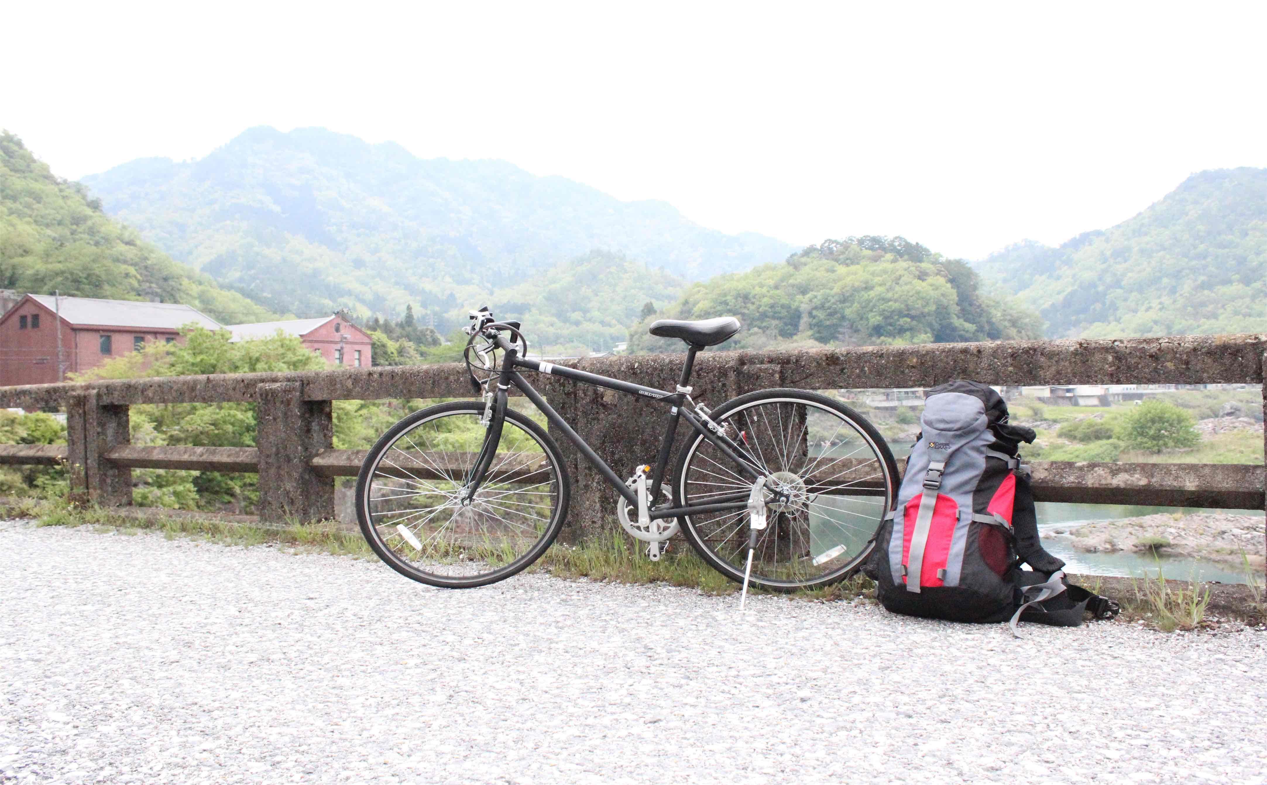 自転車がかっこよく撮れたwithバックパック