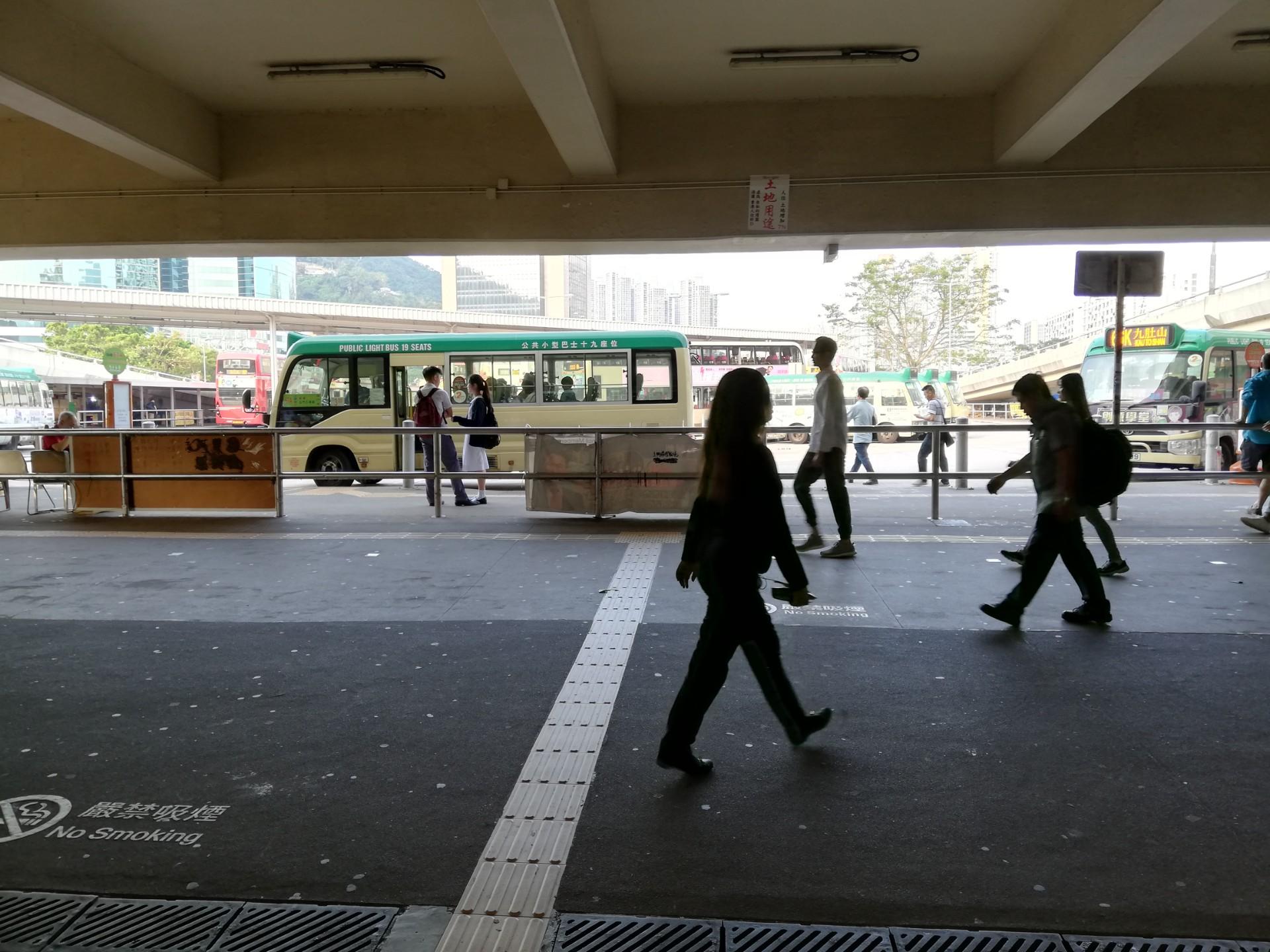 沙田(シャティン)駅出たところ